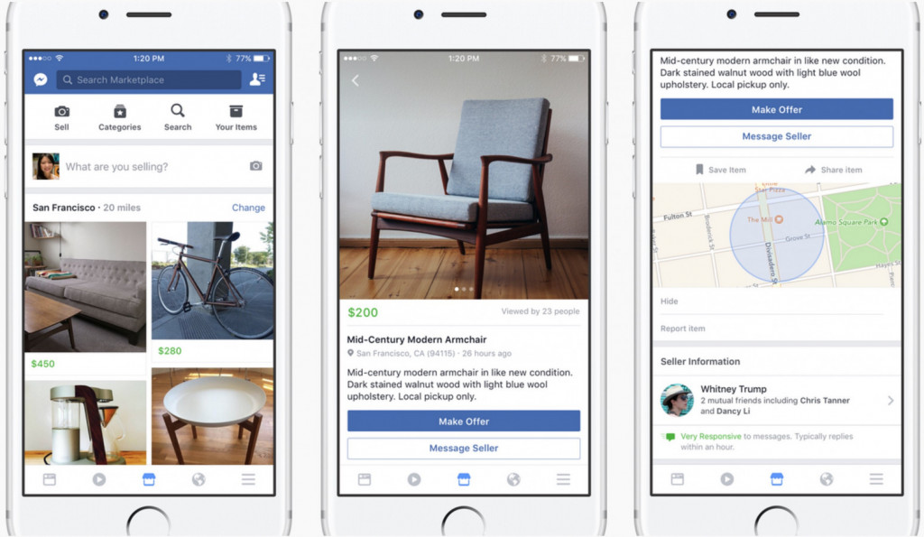 Facebook重启Marketplace市场功能,野心勃勃